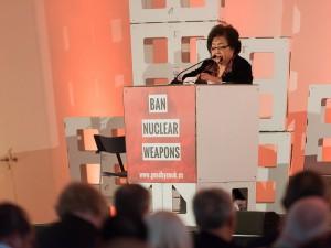 Setsuko Thurlow at ICAN Civil Society Forum.