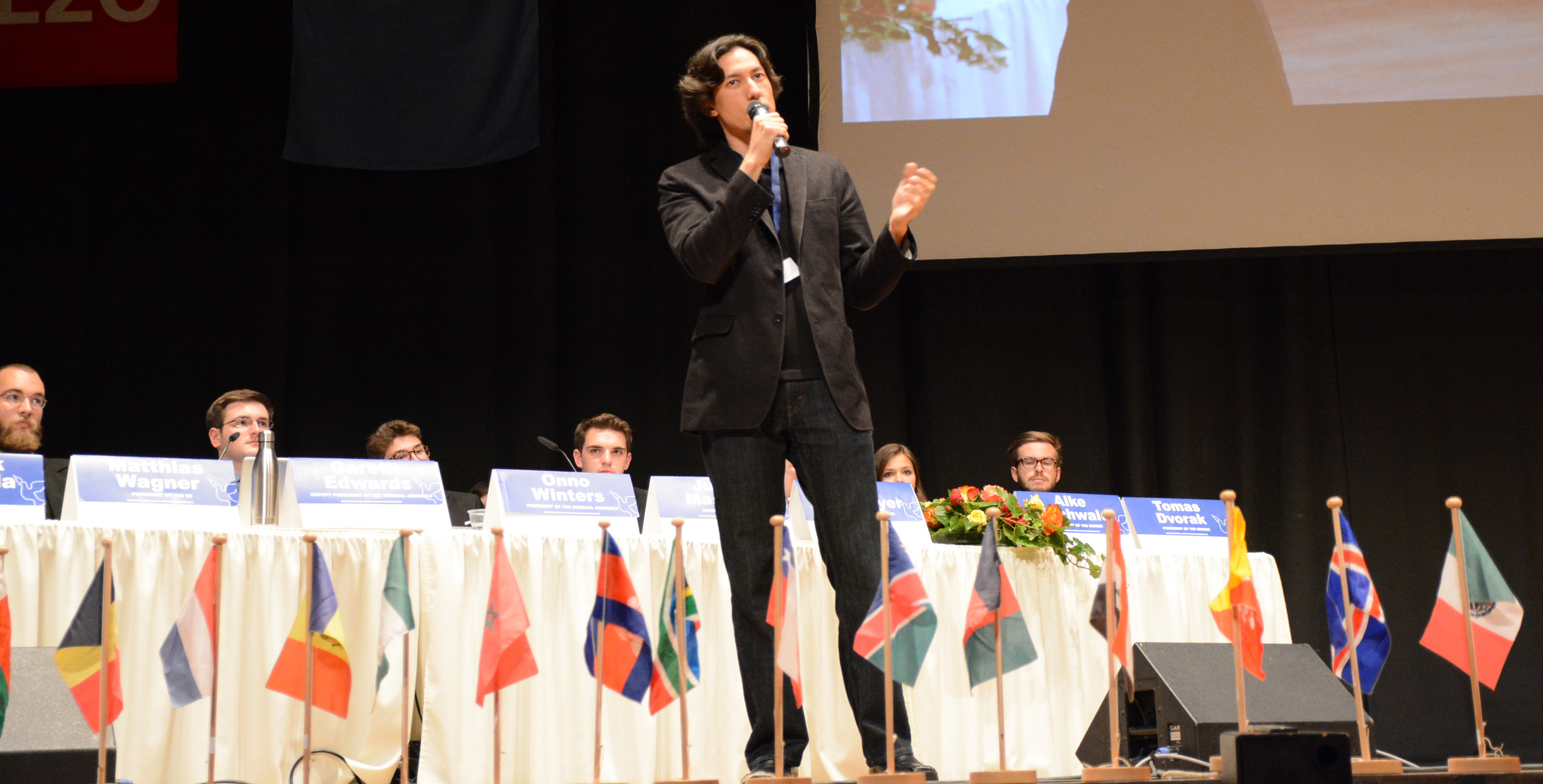 Paul K. Chappell at Oldenburg Model UN