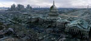 A post-World War III screenshot from the video game Fallout 3.