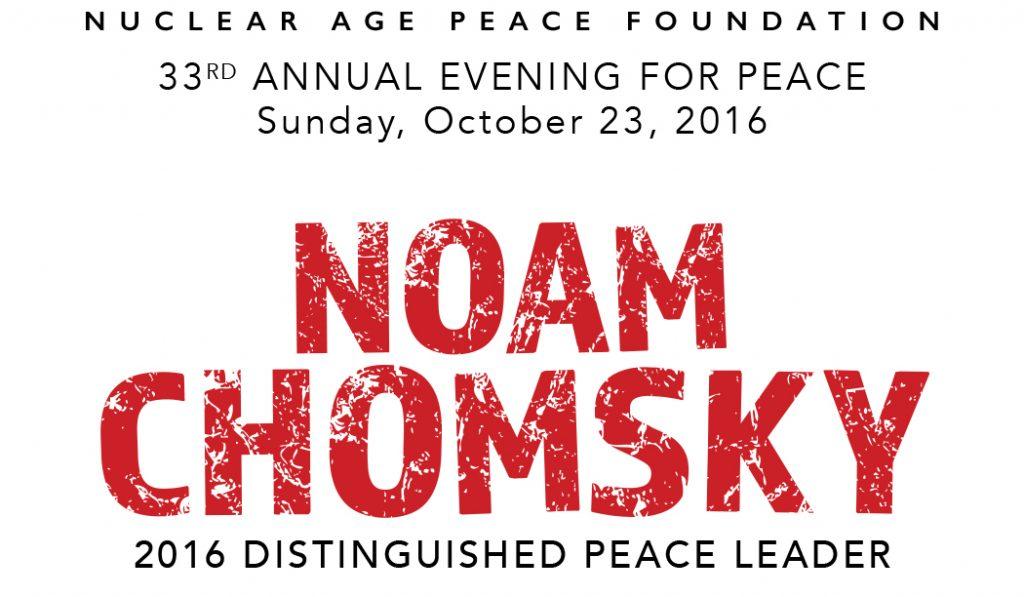 2016 Evening for Peace featuring Noam Chomsky