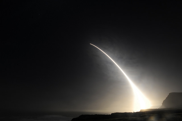 The U.S. Air Force tested this Minuteman III Intercontinental Ballistic Missile on February 20, 2016. Photo | U.S. Department of Defense