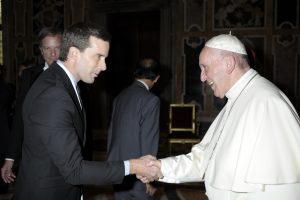 Rick Wayman and Pope Francis