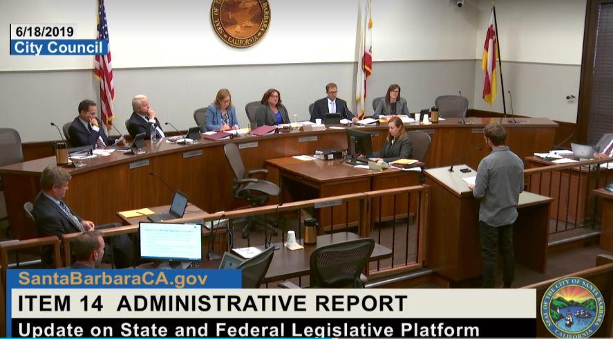 Rick Wayman at Santa Barbara City Council