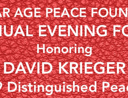 NAPF Honors David Krieger at the 2019 Evening for Peace