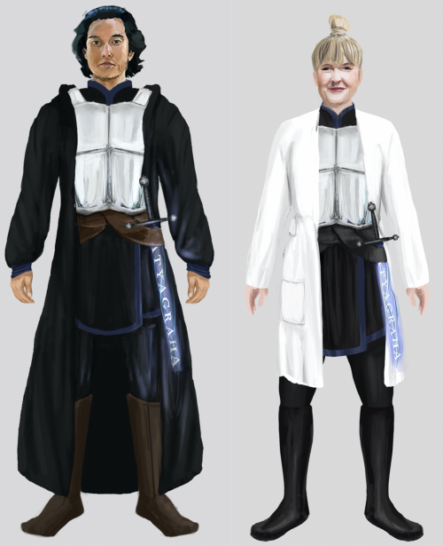 Avatars of Paul K. Chappell and Shari Clough
